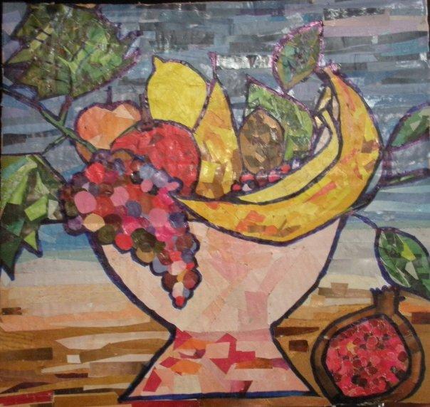Dipinti schizzi disegni e quadri di anna lamonaca dipinti schizzi quadri e disegni cesto for Cesto di frutta disegno